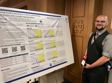 Jack and his research poster at BCCE, July 2018